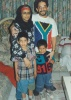 With husband Na'eem, and sons Minhaj and Shir'a